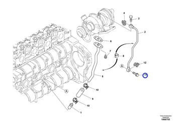 Parafuso - Volvo CE - 16677953 - Unitário