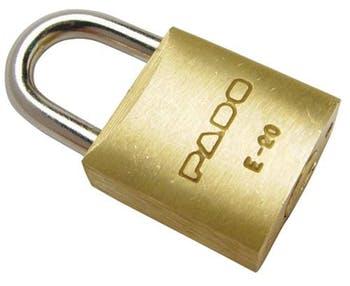 Cadeado Latão 25mm E 25 - Pado - 7501331 - Unitário
