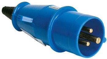 Plugue com Corpo de Nylon 2P+T 6H Azul 16 A/ 220 V - Steck - N3076 - Unitário