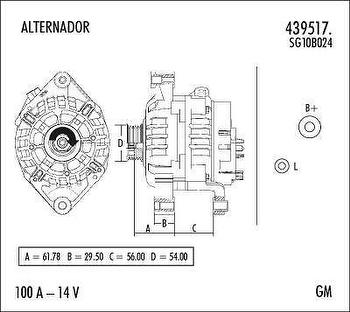 Alternador - Valeo - 439517. - Unitário