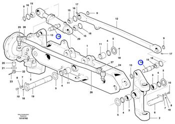 Pino do Eixo da Direção - Volvo CE - 16020001 - Unitário