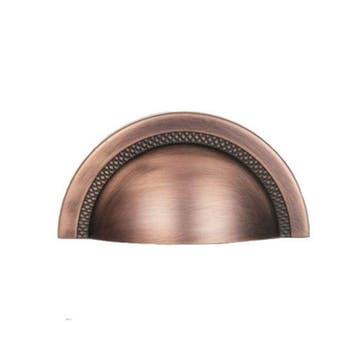 Puxador Shell Zamac Vecchio Cobre 64mm Zen Design