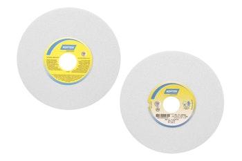 Rebolo copo reto branco FE 38A 46 KVS - 203,20x12,70x31,75 - Norton - 66253455515 - Unitário