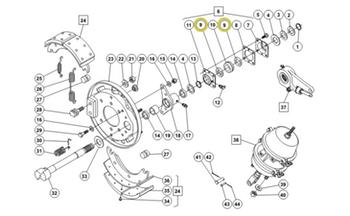 Anel de Vedação Duplo - Freios Master - 5X1188 - Unitário
