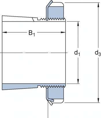Bucha de fixação - SKF - HE 206 - Unitário