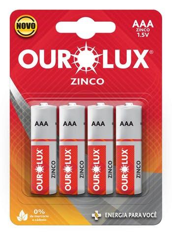 Pilha Comum AAA 1,5 V - Ourolux - 27025 - Unitário