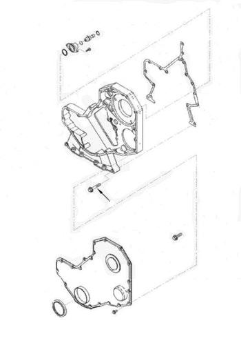 Parafuso da Carcaça de Distribuição do Motor - Autimpex - 99.049.01.007 - Unitário