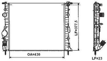 Radiador de Resfriamento - Valeo - 732764R - Unitário