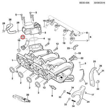 Tubo D'água do Coletor de Admissão - Original Chevrolet - 24579936 - Unitário