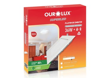 Lâmpada Plafon LED Caixa Embutir 12W Bivolt 2700K - Ourolux - 03209A - Unitário