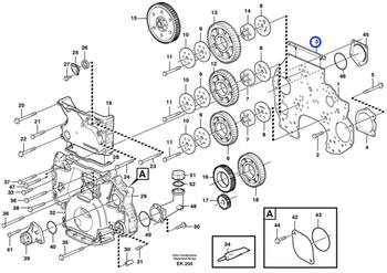 Junta da Caixa de Engrenagens - Volvo CE - 20489341 - Unitário