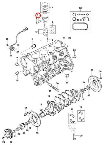 Pistão do Motor - STD - Original Chevrolet - 93231361 - Unitário