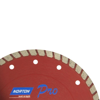 Disco diamantado para corte - turbo PRO 180x22,23mm - Norton - 70184645784 - Unitário