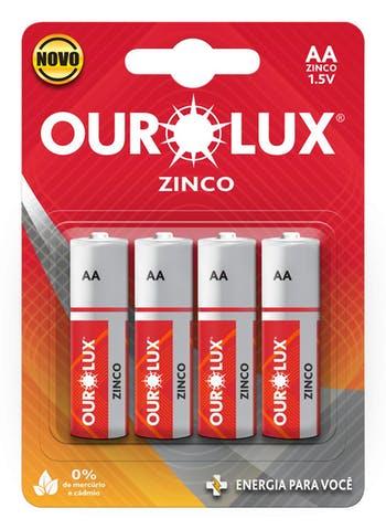 Pilhas Comum AA 1,5 V - Ourolux - 27010 - Unitário