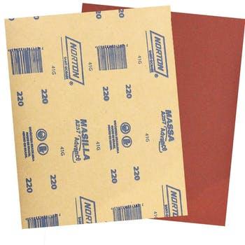 Folha de lixa massa A257 grão 220 - Norton - 05539503072 - Unitário