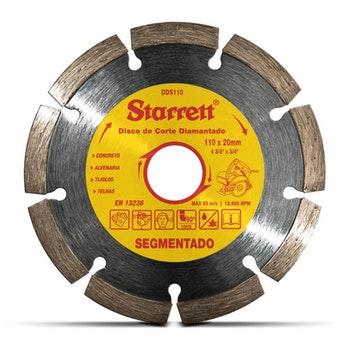 Disco de Corte Segmentado Diamantado 110 mm - Starrett - DDS110 - Unitário