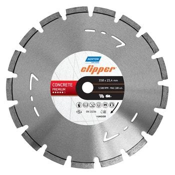Disco diamantado para corte - concreto Premium Clipper - Norton - 70184601440 - Unitário