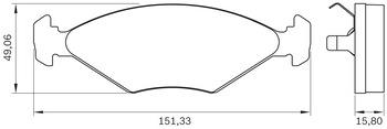 Pastilha de Freio - BB 0142/BB 51 - Bosch - 0986BB0273 - Par