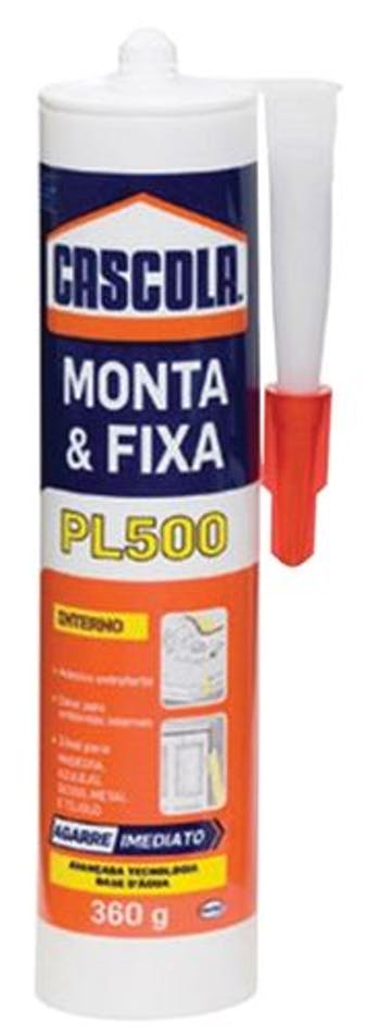 Adesivo Branco Monta e Fixa PL500 360g - Henkel - 1406600 - Unitário