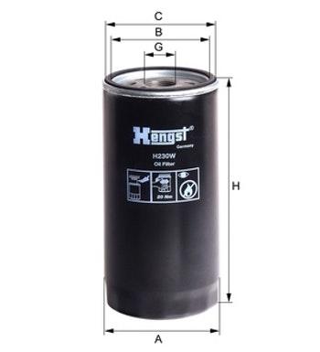 Filtro de Óleo - Hengst - H230W - Unitário