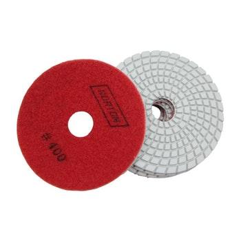 Disco diamantado flexível - Brilho d'água Grão 400 100mmxM14 - Norton - 70184643179 - Unitário