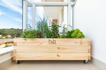 Vaso para Horta em Casa de Madeira - HUB - 000449 - Unitário