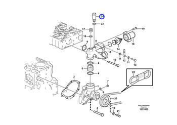 Jogo da Bomba de Água - Volvo CE - 21727935 - Unitário