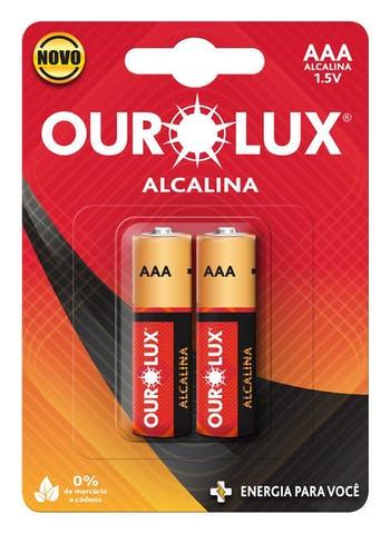 Pilhas Alcalinas AAA 1,5 V - Ourolux - 27225 - Unitário
