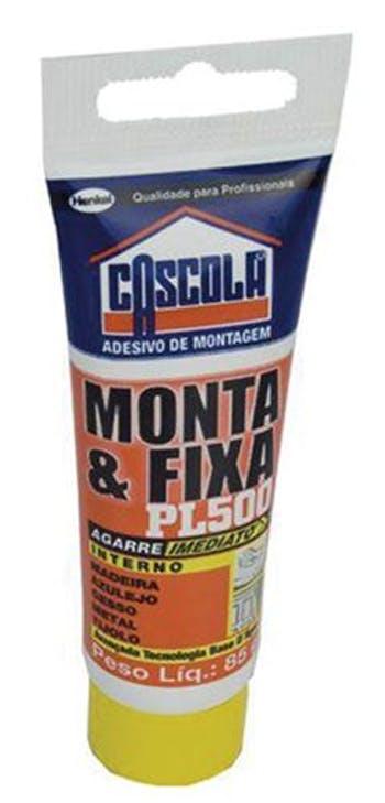 Adesivo Monta e Fixa sem Solvente PL500 85g - Cascola - 1406658 - Unitário
