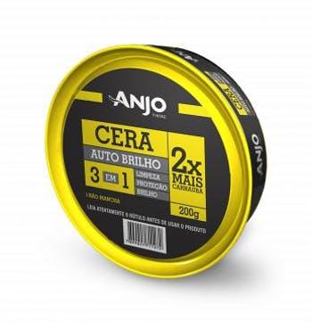 Cera Auto Brilho 3 em 1 200g - Anjo - 001615-05 - Unitário