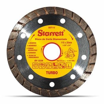 Disco de Corte Turbo Diamantado - Starrett - DDT110 - Unitário