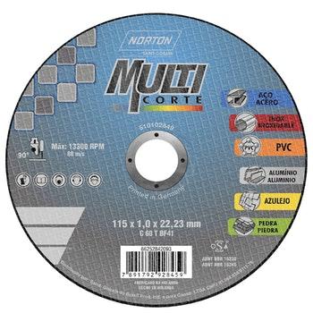 Disco de corte Multicorte 115x1,0x22,23mm - Norton - 66252842093 - Unitário