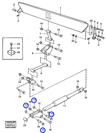 Anel de Fixação - Volvo CE - 914456 - Unitário