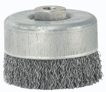 Escova Copo 100x14mm Fio 0,50mm 8500Rpm - Abrasfer - 7500 DN M14-0,5 - Unitário