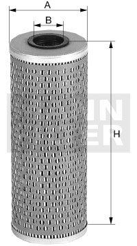 Elemento Filtrante do Óleo Lubrificante - Mann-Filter - H1074 - Unitário