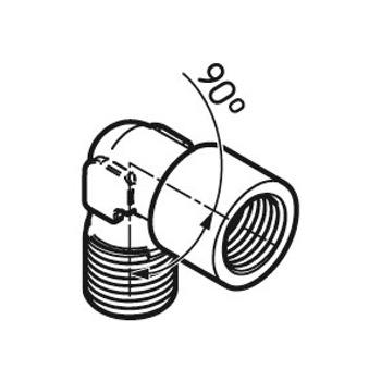 Conexão angular de 90° - SKF - LAPA 90 - Unitário