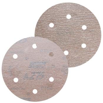 Disco de lixa seco A275 grão 120 152mm c/ 6 furos - Norton - 66261086332 - Unitário