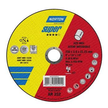 Disco de corte Super AR332 - 230x3,0x22,23mm - Norton - 66252926930 - Unitário