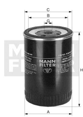 Filtro Blindado do Combustível - Mann-Filter - WK954/2x - Unitário
