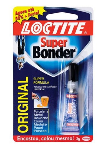 Adesivo Instantâneo Super Bonder 3g - Loctite - 1621047 - Unitário