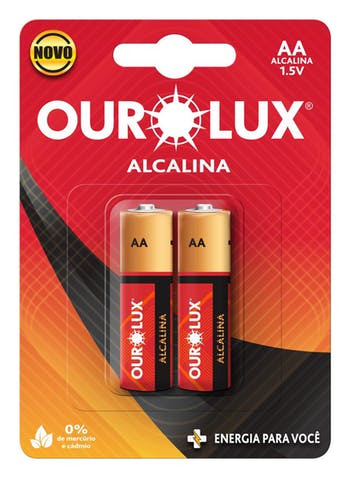 Pilhas Alcalinas AA 1,5 V - Ourolux - 27205 - Unitário