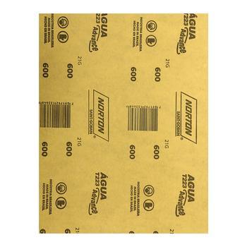 Folha de lixa água T223 grão 600 - Norton - 66261161508 - Unitário