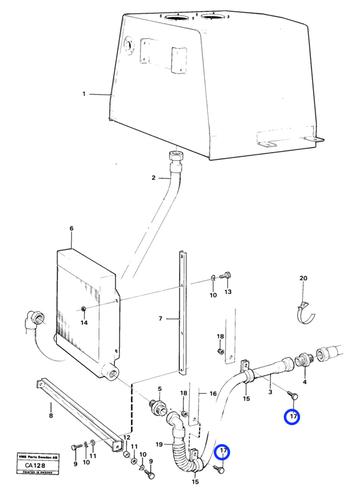 Parafuso Sextavado - Volvo CE - 955273 - Unitário