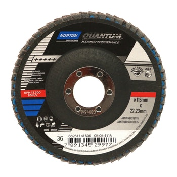 Disco Flap  grão 36 115x22,23mm - Norton - 66261141636 - Unitário