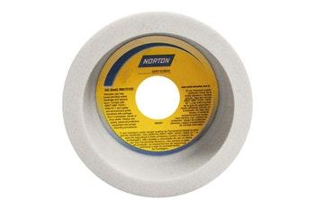Rebolo copo reto branco FE 38A 60 K - 127,0X50,8X31,75 - Norton - 66253362425 - Unitário