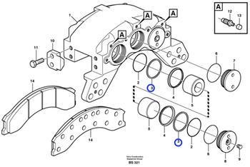 Anel do Freio A Disco - Volvo CE - 12973913 - Unitário