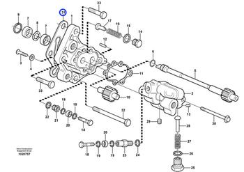 Junta da Bomba de Combustível - Volvo CE - 3964833 - Unitário