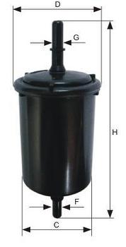 Filtro Blindado do Combustível - Purolator - F1057 - Unitário