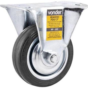 Rodízio Nylon Fixo Preto sem Freio 3 - Vonder - 35.79.538.540 - Unitário