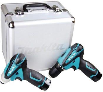 Kit Furadeira e Parafusadeira DF330D + Furadeira de Impacto TD090D com 2 Baterias 12V
